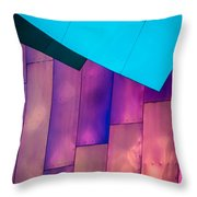 Purple Panels Throw Pillow