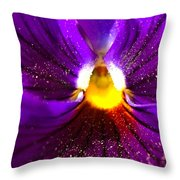 Purple Pansy Detail Throw Pillow