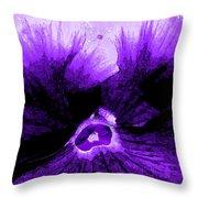 Purple Pansy Rising Throw Pillow