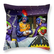Purple Party People Throw Pillow