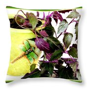 Purple Passion In The Sunshine Throw Pillow