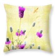 Purple Passion Texture Throw Pillow