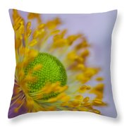 Purple Pastel Daisy Throw Pillow