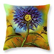 Purple Petals Throw Pillow