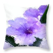Purple Petunia Throw Pillow