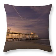 Purple Pier Throw Pillow