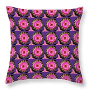 Purple Pink Flower Pattern Decoration Background Designs  And Color Tones N Color Shades Available F Throw Pillow