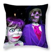 Purple Pose Throw Pillow