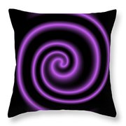 Purple Post Throw Pillow