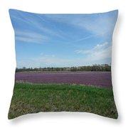 Purple Prairie Throw Pillow