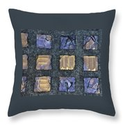 Purple Prism Glass In A Square Throw Pillow