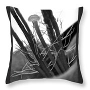 Purple Queen In Bw Throw Pillow
