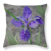 Purple Rain IIi Throw Pillow