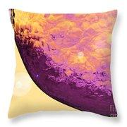 Purple Raindrop Throw Pillow