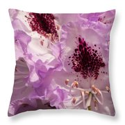 Purple Rhodo Throw Pillow