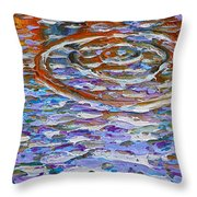 Purple Ripple Throw Pillow