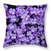 Purple Rockcress Throw Pillow