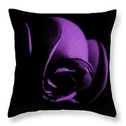 Purple Rose Bud Throw Pillow
