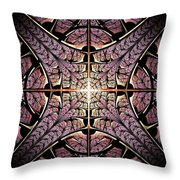Purple Shield Throw Pillow