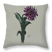 Purple Simplicity Throw Pillow
