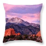 Purple Skies Over Pikes Peak Throw Pillow