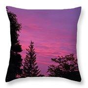 Purple Sky At Night Throw Pillow