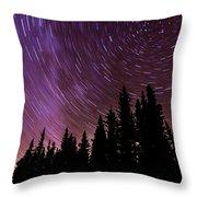 ...purple Sky Throw Pillow