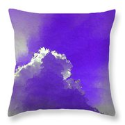 Purple Sky With A Cloud Throw Pillow