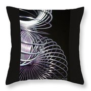 Purple Slinky Throw Pillow