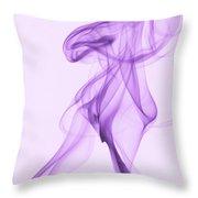 Purple Smoke Throw Pillow