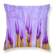 Purple Spires Throw Pillow