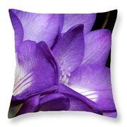 Purple Springtime Throw Pillow