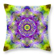 Purple Star Yantra Mandala Throw Pillow