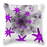 Purple Stars Throw Pillow