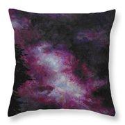 Purple Storm Throw Pillow