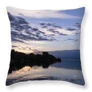 Purple Sunrise Clouds Throw Pillow