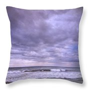 Purple Sunset At The Beach Throw Pillow