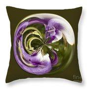 Purple Swirl Orb Throw Pillow