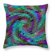 Purple Swirl Ripples Throw Pillow