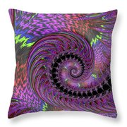 Purple Swirl Throw Pillow