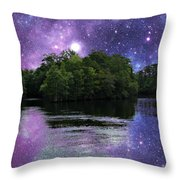 Purple Takeover Throw Pillow