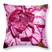 Purple Tiger Rose Throw Pillow
