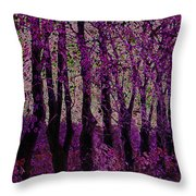 Purple Trees Throw Pillow