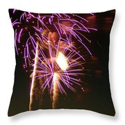 Purple Trees Throw Pillow by Optical Playground By MP Ray