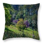 Purple Trees Throw Pillow