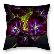 Purple Tulips 2 Throw Pillow