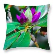 Purple Turtle Head Flower Throw Pillow