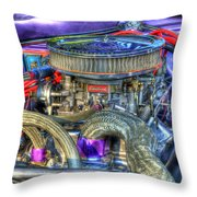 Purple Under The Hood Throw Pillow