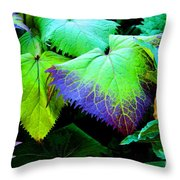 Purple Veins Throw Pillow