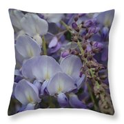 Purple Vine Throw Pillow
